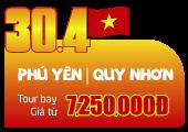 Tour Du Lịch: Phú Yên | Quy Nhơn | Vịnh Vũng Rô | Kỳ Co | Eo Gió | Gồm VMB (3N2Đ)