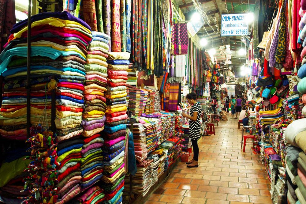 Những điểm mua sắm ở Campuchia - Chợ Nga (Russian Market) 2