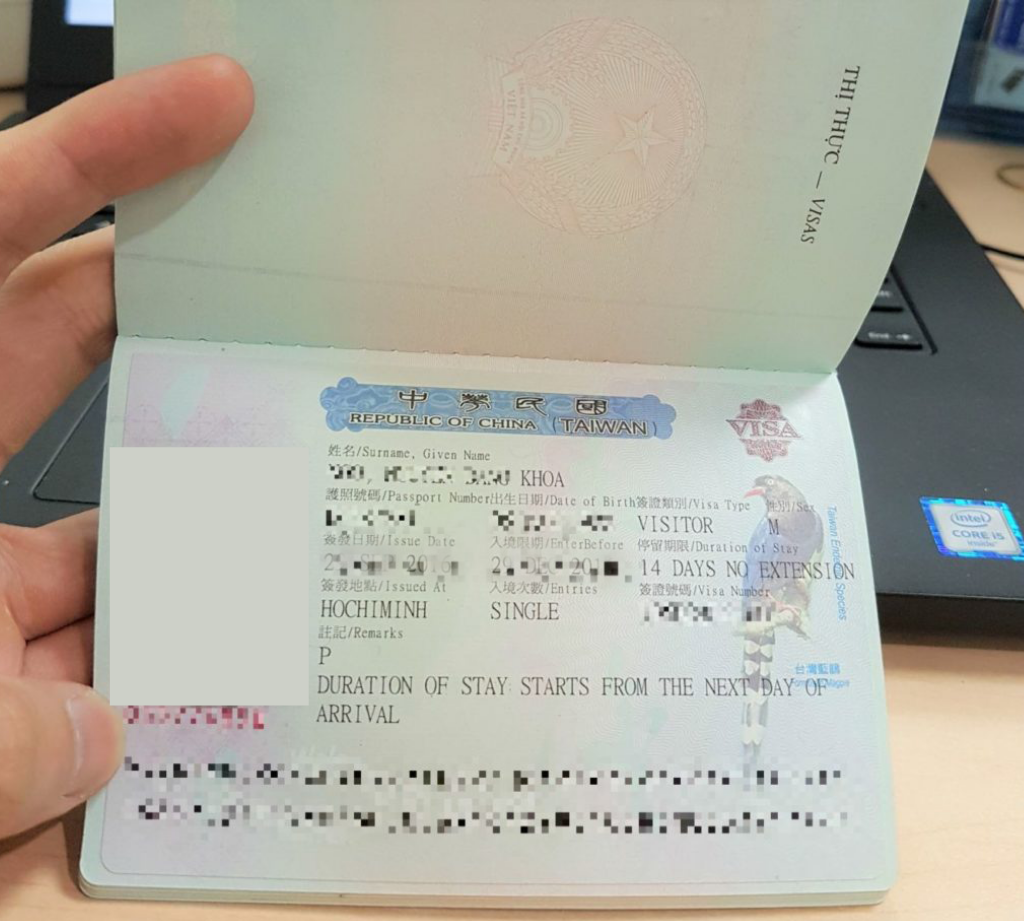 Lưu ngay quá trình và kinh nghiệm xin visa Đài Loan - ảnh 3