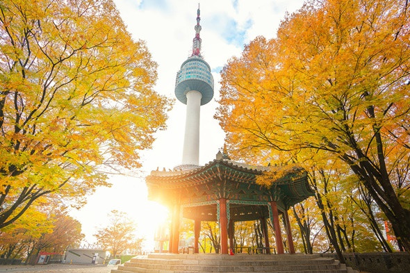 Du lịch Hàn Quốc vào mùa thu - Núi Namsan – Seoul