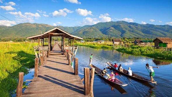 Ngỡ ngàng trước cảnh đẹp hút hồn của hồ Inle Myanmar - ảnh 2