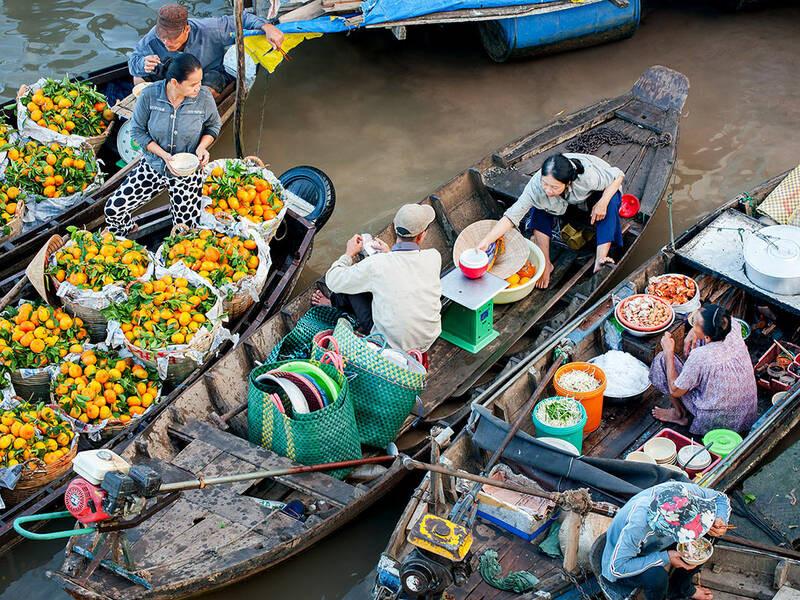 Tận hưởng vẻ đẹp bình yên của hai khu chợ nổi miền Tây - ảnh 5