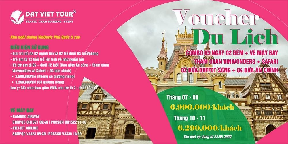 Combo 2:  3N2Đ+ VMB + Tham Quan Vinwonders & Safari + 2 Bữa Buffet Sáng + 4 Bữa Chính
