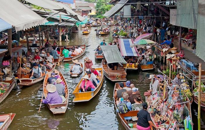 Chợ nổi bốn miền Pattaya – điểm đến lạc lối dịp lễ 30.4 này - Cảnh chợ