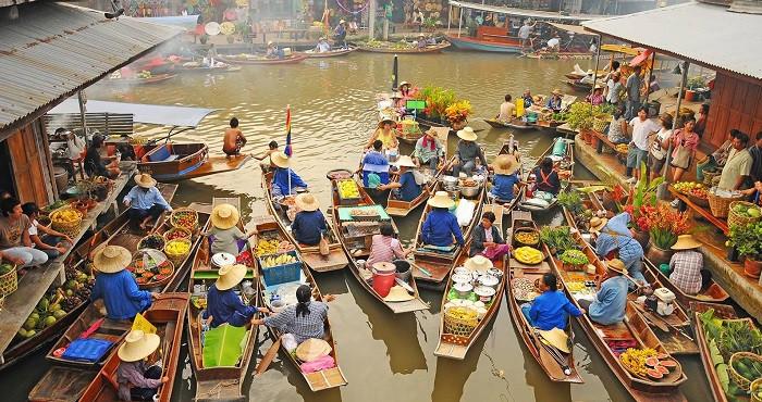 Chợ nổi bốn miền Pattaya – điểm đến lạc lối dịp lễ 30.4 này - Chợ rất nhộn nhịp vào cuối tuần