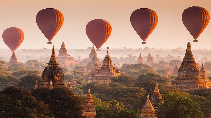 Bagan - Vùng đất cố đô đầy thương nhớ - Khinh khí cầu Bagan 2