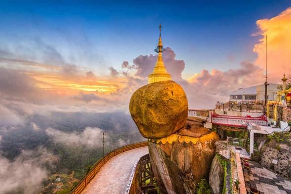 Top 5 điểm đến nổi tiensg tại Myanmar - chùa Hòn Đá Vàng