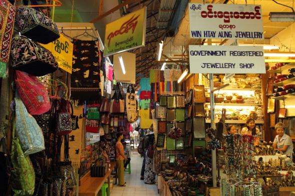 Oanh Tạc 5 Địa Điểm Trứ Danh Tại Myanmar - Chợ Bogyoke