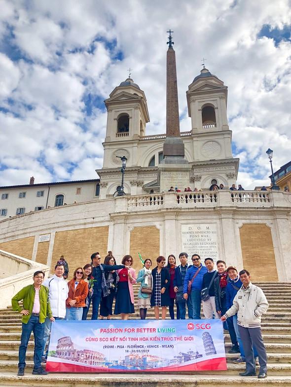 Đất Việt Tour đồng hành cùng SCG trong hành trình Kết Kết Nối Tinh Hoa Kiến Trúc Thế Giới tại Italia