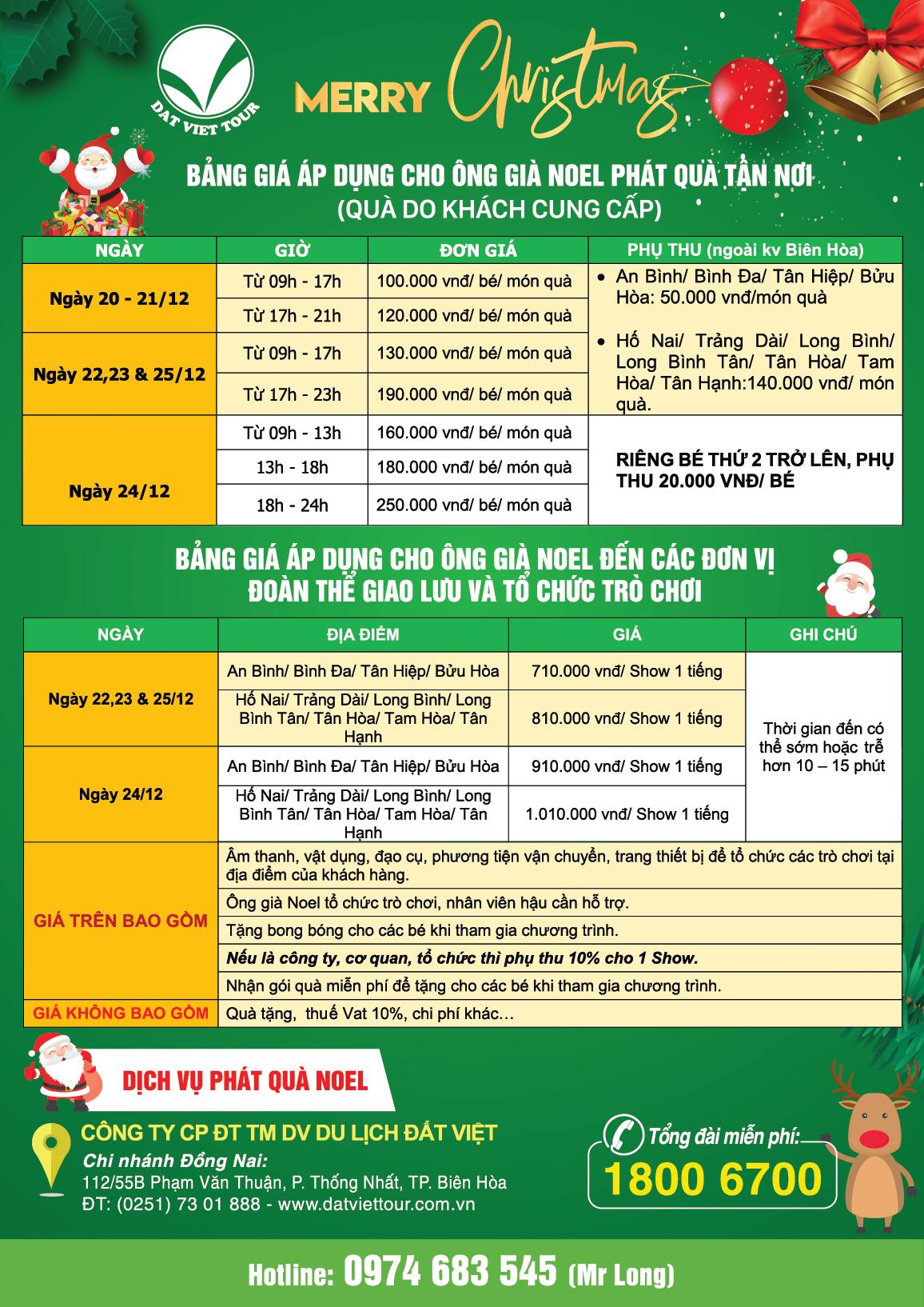 Dịch vụ phát quà Giáng sinh 2019 - Tờ rơi tỉnh Đồng Nai