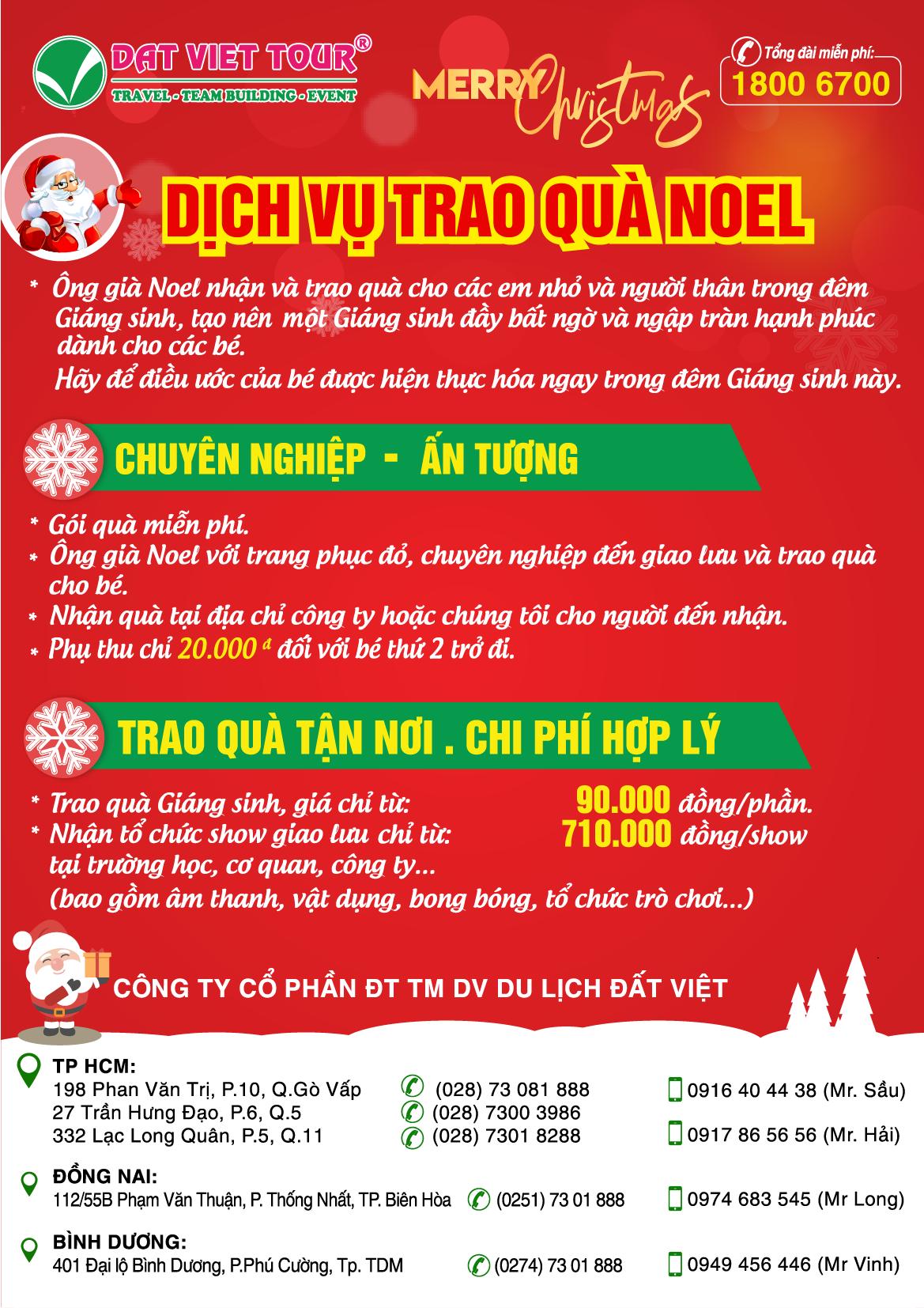 Dịch vụ phát quà Giáng sinh 2019 - Tờ rơi dịch vụ phát quà Giáng sinh 2