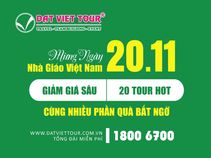 Đất Việt Tour mừng Ngày Nhà giáo Việt Nam với nhiều ưu đãi hấp dẫn