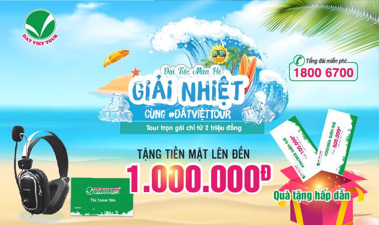 Tour nước ngoài - giảm đến 1 triệu đồng và cơ hội nhận được tai nghe cao cấp