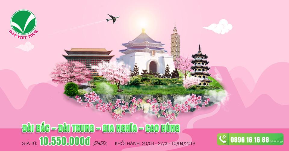 Khuyến mãi cực hấp dẫn cho tour ngắm hoa anh đào - Tour Đài Bắc