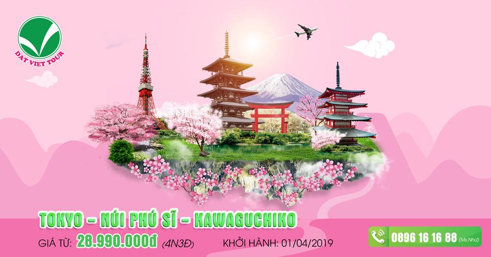 Khuyến mãi cực hấp dẫn cho tour ngắm hoa anh đào - Tour Tokyo | Kawaguchiko