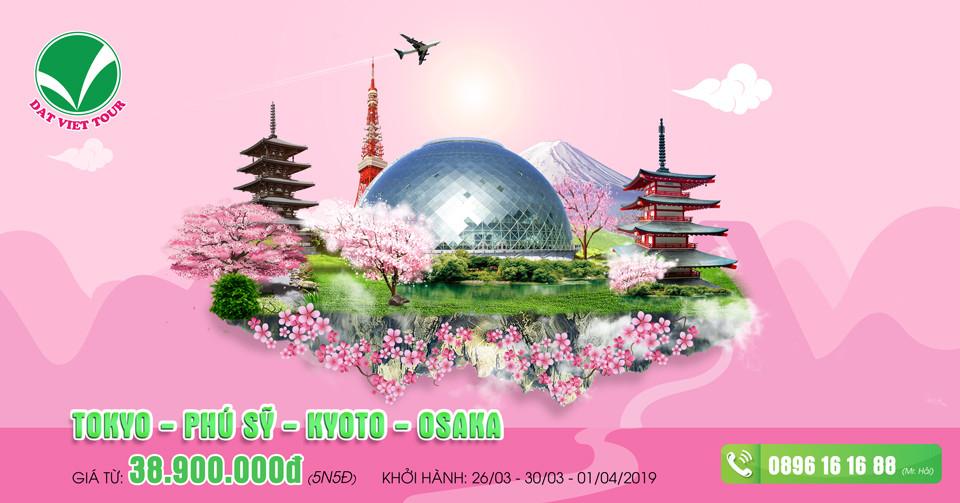 Khuyến mãi cực hấp dẫn cho tour ngắm hoa anh đào - Tour Phú Sĩ | Osaka