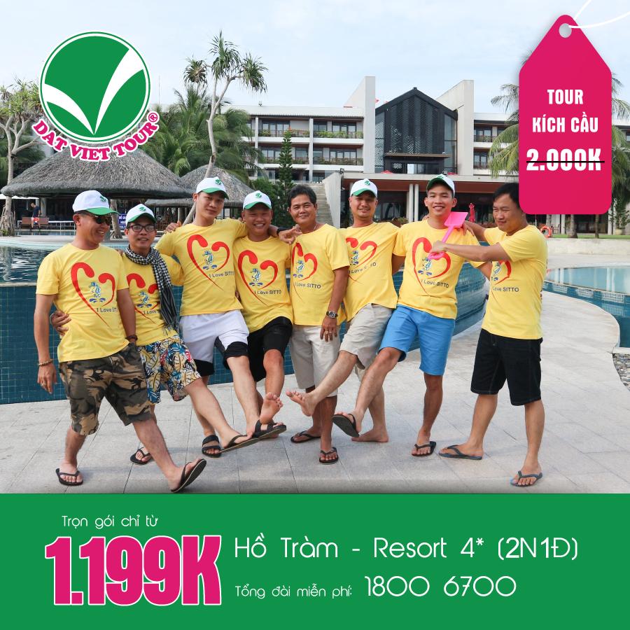 Tour Kích Cầu: Hồ Tràm - Resort 4* (2N1Đ) (KH theo yêu cầu)